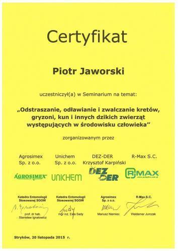 Certyfikat krety
